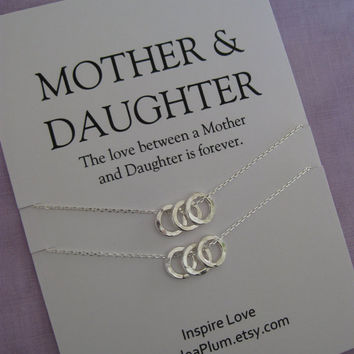 MOM. Mother Daughter Jewelry. Mom DAUGHTER. Mommy Necklace. Moms Birthday. Inspirational. Mother of the Bride. Bridal Party Gifts.