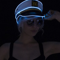 Light Up Navy Sailor Hat