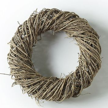 "Natural Birch and Grapevine Wreath - 17.5"" Wide"