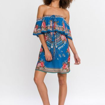 Tribal and Floral Dress