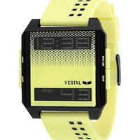 Vestal DIG026 Men's Watch Yellow/Black Thin and Lightweight Digital Digichord