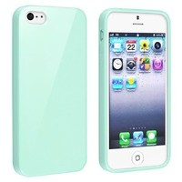EverGoods TPU Rubber Skin Case for Apple iPhone 5 5S , Mint Green Jelly