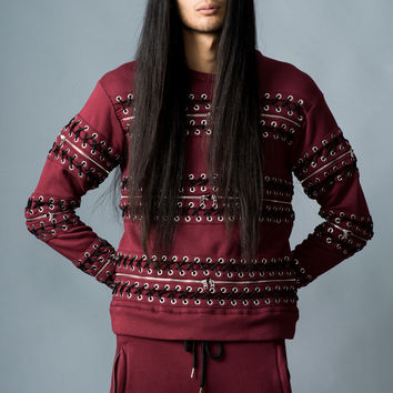 Hood By Air Zip Lace-Up Sweatshirt - MEN - SALE - Hood By Air - OPENING CEREMONY