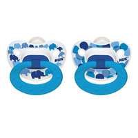 NUK 0 - 6 Month Orthodontic Pacifier 2 Pack - Elephants