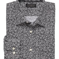 Banana Republic Mens Factory Tailored Fit Non Iron Floral Print Shirt