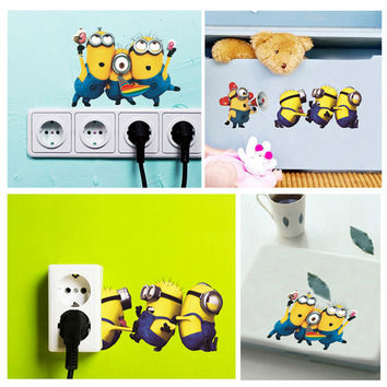 Minion Wall Stickers Switch Sticker 30*60CM Despicable Me 2