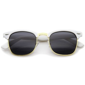 Everyday Two-Tone Half Frame Sunglasses A703