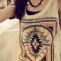 Summer Vest Sleeves Casual Tops T-Shirt For Girls