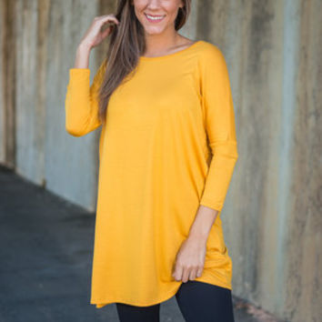 Live For Me Tunic, Mustard
