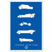 Batman: Choose Your Ride Limited Edition 24 x 36 Inch Print |