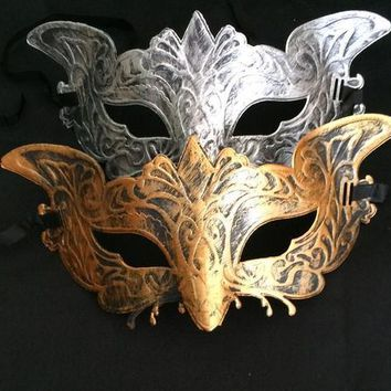 Men's Vintage Eagle Mask Mardi Gras Halloween Masquerade