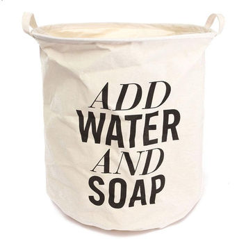 Add Water and Soap Collapsible Laundry Hamper