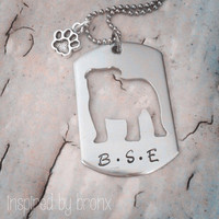 Dog Necklace Personalized Dog Necklace English by InspiredByBronx