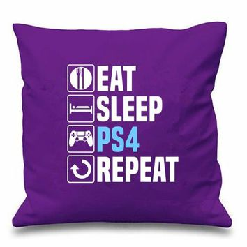 Eat Sleep PS4 Repeat Pillow
