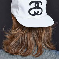 Stussy Big Link Snapback Hat- White One