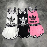 Adidas Fashion Women Casual Sport Gym Running Set Three-Piece Sportswear