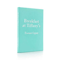 "Tiffany & Co. - ""Breakfast at Tiffany's"" by Truman Capote with Tiffany Blue grain leather cover."