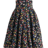 Emily and Fin Sail We Dance Skirt in Colorful Clouds | Mod Retro Vintage Skirts | ModCloth.com