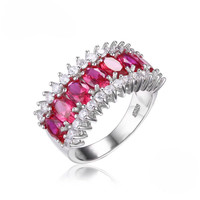 Full Inspiration, Pigeon Blood Created Ruby Ring