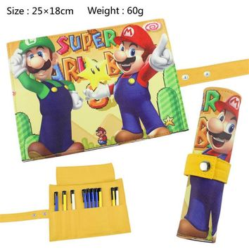 Super Mario party nes switch 2017 new classic game  Curtain Pencil Bag School Office Pencil Bag Child Learning Stationery Baby Gift   AT_80_8