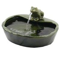 Outdoor Classics Ceramic Solar Frog Fountain