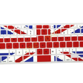 "Union Jack UK Great Britain Flag Pattern Keyboard Cover Decal Skin for Apple Macbook Macbook Pro iMac Keyboard  13"" 15"" 17"""