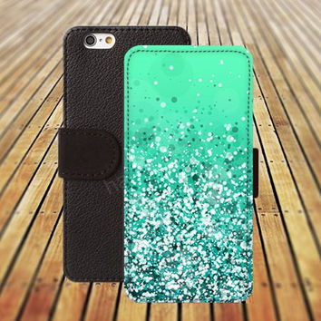 iphone 5 5s case sparkle mint green colorful iphone 4/ 4s iPhone 6 6 Plus iphone 5C Wallet Case,iPhone 5 Case,Cover,Cases colorful pattern L170