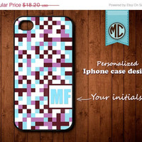 20% OFF SALE Personalized iPhone 4 Case - Plastic iPhone case - Rubber iPhone case - Monogram iPhone case - iPhone 4s case - K100