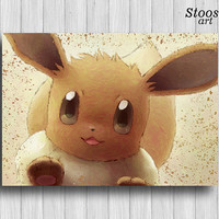 Eevee pokemon print anime manga pokemon gifts