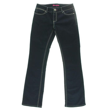 Wrangler Womens Dark Solid Bootcut Jeans