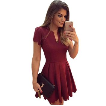 Princess Style A-line Mini Skater Dress