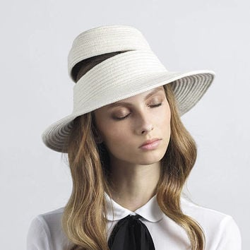 Limited collection by justine hats , Hat designer , Womens cotton rope hat , Unique hand crafted hat