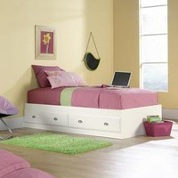Sauder Shoal Creek Twin Mates Bed with Headboard, Soft White - Walmart.com