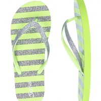 GLITTER STRIPE FLIP FLOPS | GIRLS SANDALS & FLIP FLOPS SHOES | SHOP JUSTICE
