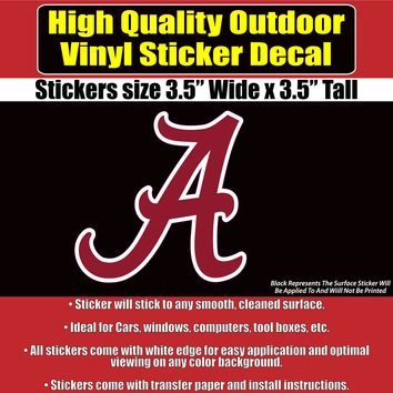 University Of Alabama Crimson Tide Vinyl Car Window Laptop Sticker Decal