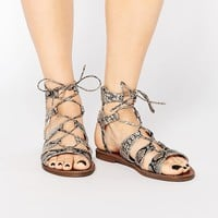 New Look | New Look Lace Up Sandal at ASOS