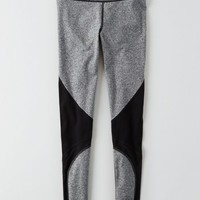 AEO Mesh Panel Hi-Rise Legging , True Black | American Eagle Outfitters