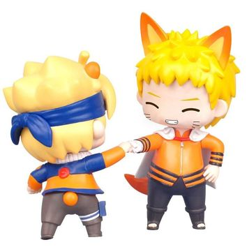 Naruto Sasauke ninja Boruto  Next Generations Mini Action Figures 1/10 scale Cute Ver. Uzumaki Boruto Uzumaki  PVC figure Toys Brinquedos AT_81_8