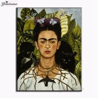 Frida Kahlo printing Wall Art Canvas Impressionist oil paintings poster and print canvas for living room frida kahlo