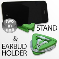 iANGLE - iPhone 4 &4S / iPod touch Stand and Earbud holder GREEN