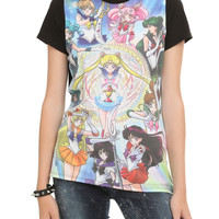 Sailor Moon Ten Sailors Sublimation Girls T-Shirt
