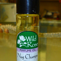 Wild Rose NAG CHAMPA FLORA Roll On Perfume Oil 1/3 oz. hippie fragrance