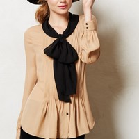 Bowed Peplum Blouse