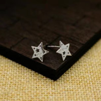 Cute tiny star earrings + Gift box ALQ1024
