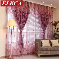 European Luxury Window Curtains for Living Room