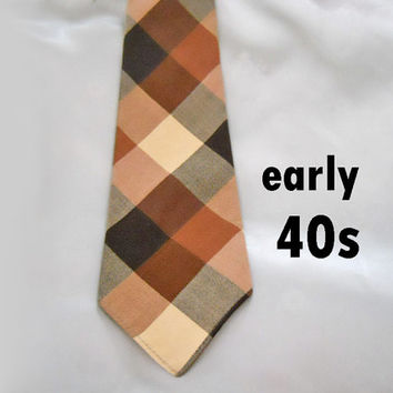 40s Vintage Necktie - Early 1940s Wool Tie by Arrow
