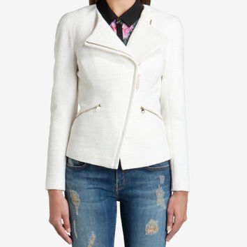 Textile biker jacket - Cream | Jackets & Coats | Ted Baker