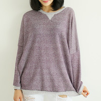 Purple knit t shirt, knitwear, hoodie, sweater,