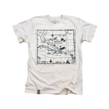 IronTree Clothing | Bermuda Triangle: Organic Fine Jersey Short Sleeve T-Shirt in Unbleached Natural