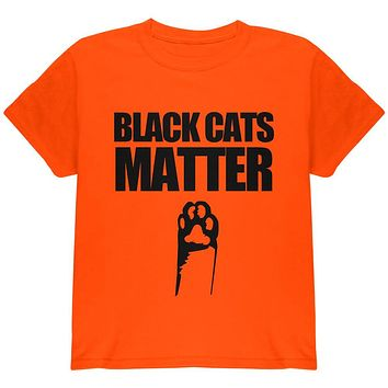 Halloween Black Cats Matter Youth T Shirt